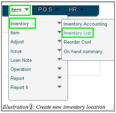 BMO create new inventory location 1