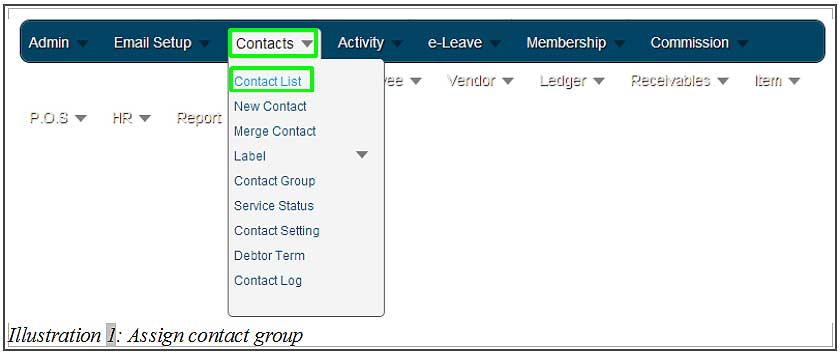 BMO inventory assign contact group 1