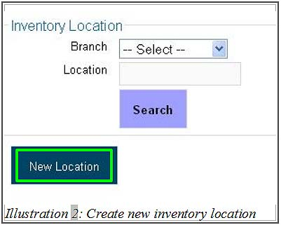 BMO inventory create new inventory location 2