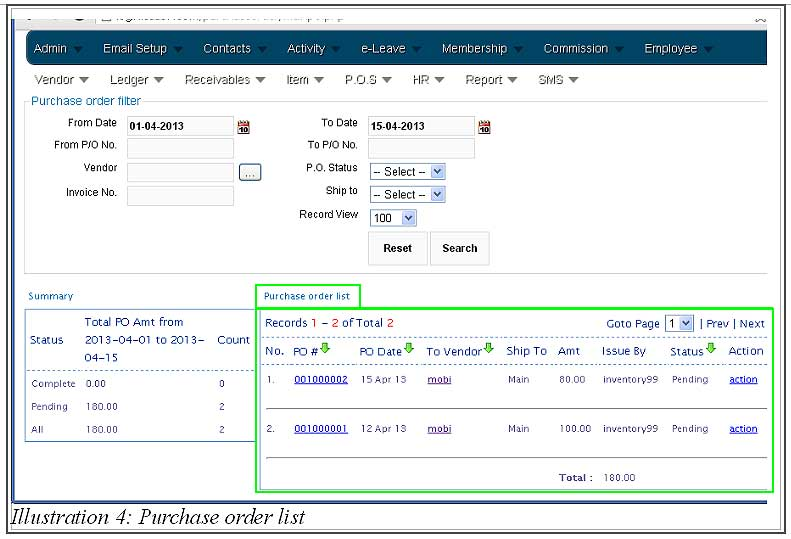 BMO inventory create purchase order 4