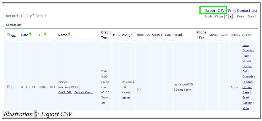 BMO inventory export csv 2