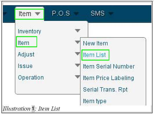BMO Inventory item manufacturer code 1