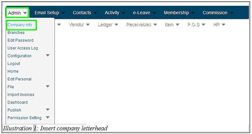 how to create company letterhead with bmo inventory inventory