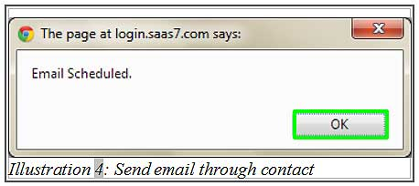 BMO inventory send email through contact 4