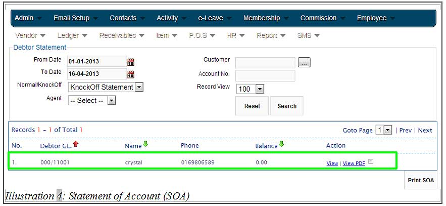 BMO inventory statement of account 4