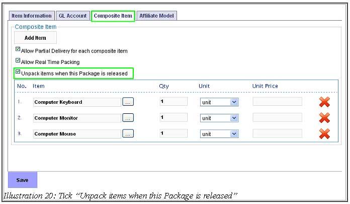BMO Inventory Adjustment Item 20