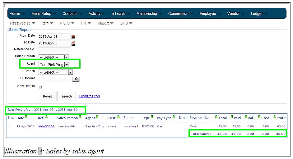How to View Sales by Sales Agent in BMO Online Inventory