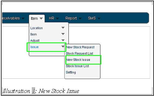 BMO inventory create new stock issue 1