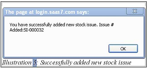 BMO inventory create new stock issue 5