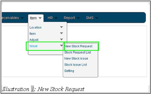 BMO inventory create new stock request 1