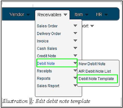 BMO inventory debit note template 1