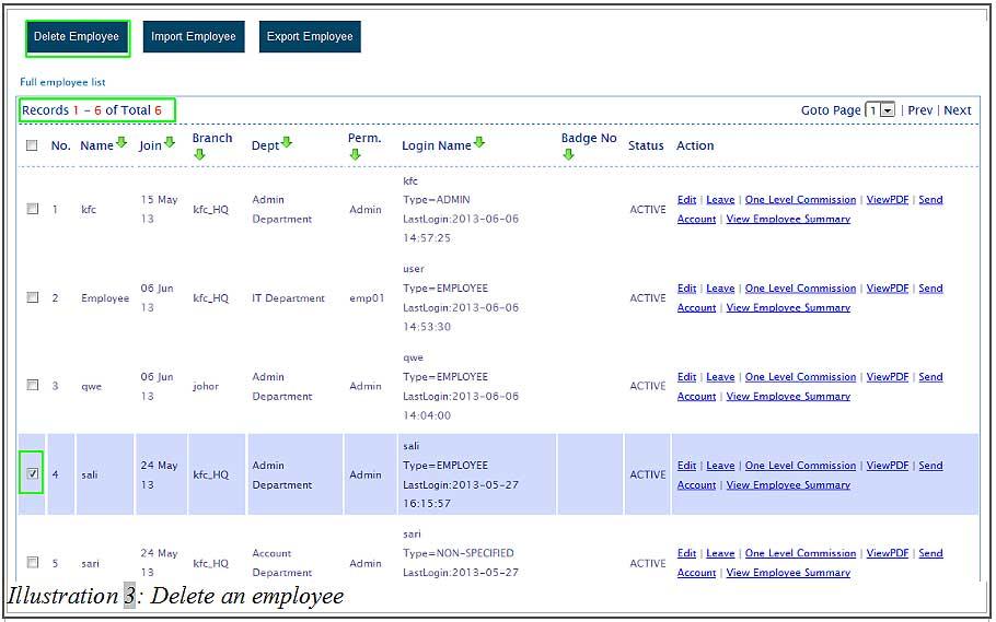 BMO inventory delete employee 3