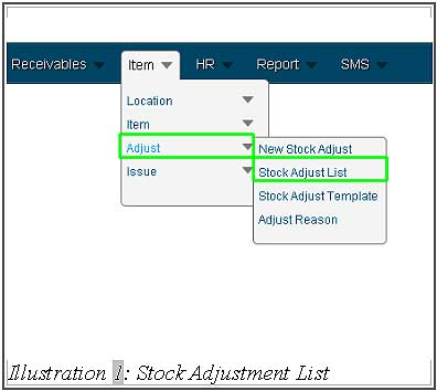 BMO inventory view stock adjust list 1